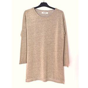 NICE THINGS Paloma S Metallic Sweater Top NWOT